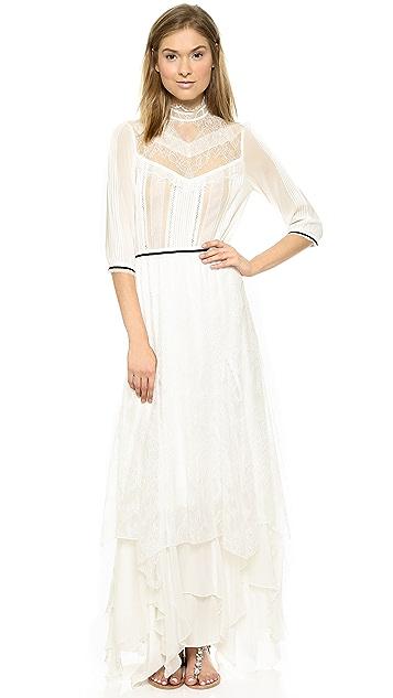 alice + olivia Victoriana Handkerchief Hem Dress