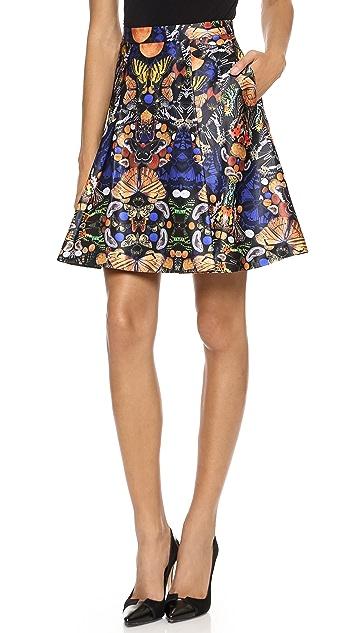 alice + olivia Nyla Center Pleat Skirt