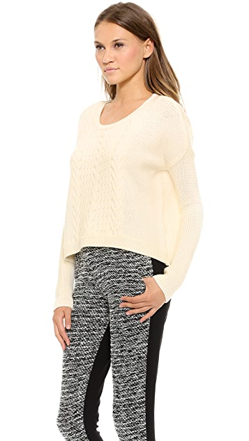 alice + olivia Boxy Open Weave Sweater