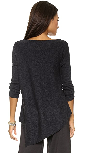 alice + olivia Solid Bias Boxy Pullover