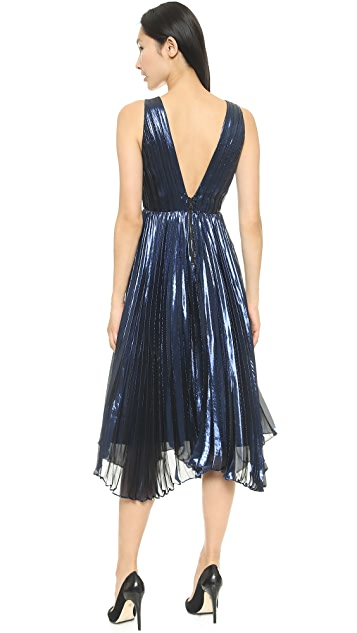 alice + olivia Alessandra Pleated Gown