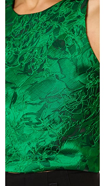 alice + olivia Keston Crop Top