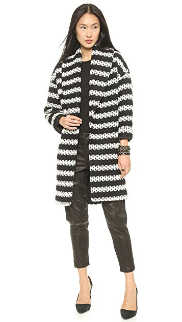 alice + olivia Ralter Oversized Drop Shoulder Coat