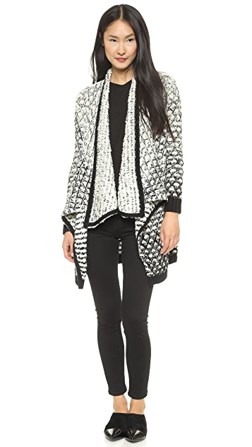 alice + olivia Ombre Novelty Stitch Long Cardigan
