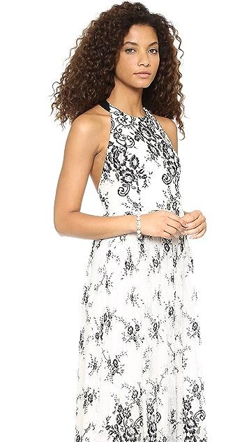 alice + olivia Isla T Back Long Dress