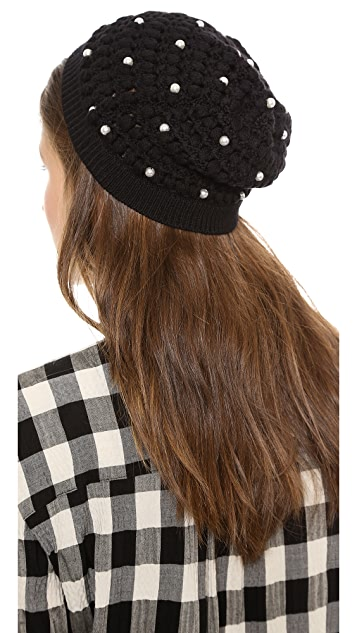 alice + olivia Imitation Pearl Hat