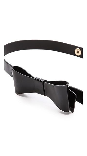 alice + olivia Patent New Bow Belt