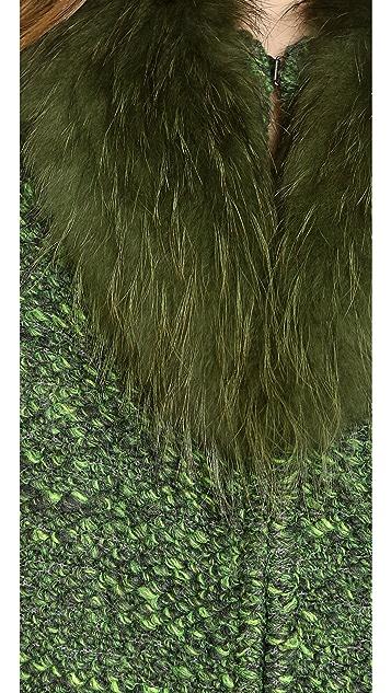alice + olivia Fur Collar Coat