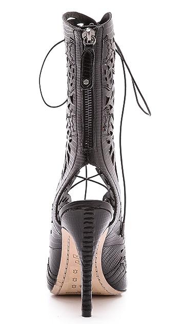 alice + olivia Georgia Lace Up Sandals