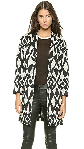 alice + olivia Emett Cocoon Coat