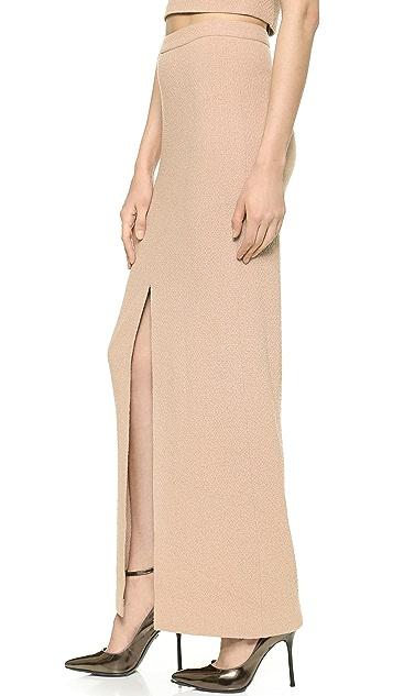alice + olivia Abby Slit Maxi Skirt