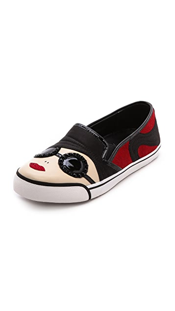 alice + olivia Stacey Face Slip On Sneakers