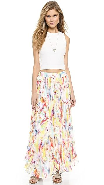 alice + olivia Pleated Maxi Skirt