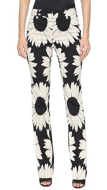 alice + olivia Highwaisted Eddie Floral Pintuck Pants