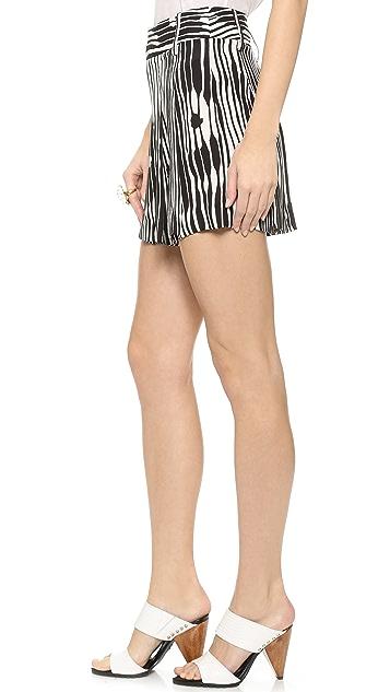 alice + olivia High Waist Flutter Shorts