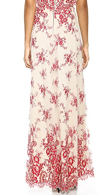 alice + olivia Kira High Low Maxi Skirt