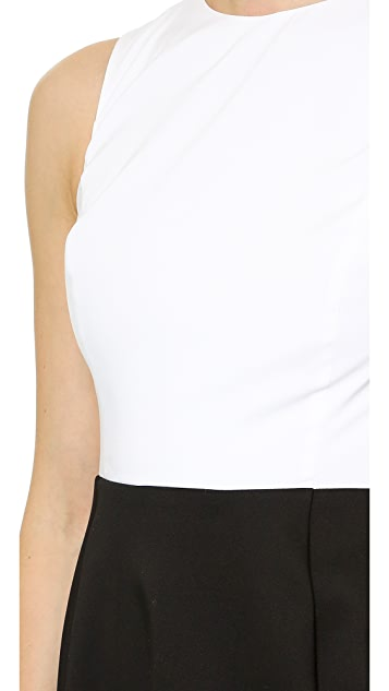 alice + olivia Box Pleat Midi Dress