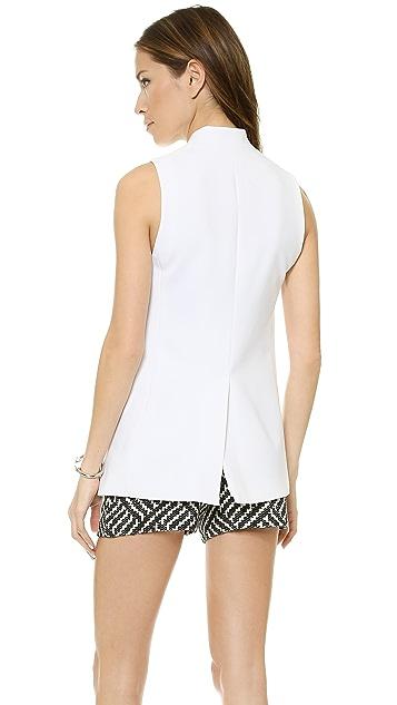 alice + olivia Collarless Long Slim Vest