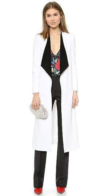 alice + olivia Long Draped Shawl Collar Coat
