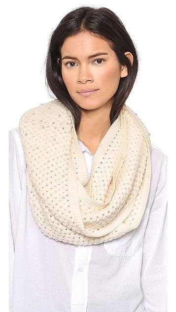 alice + olivia Imitation Pearl Knit Infinity Scarf