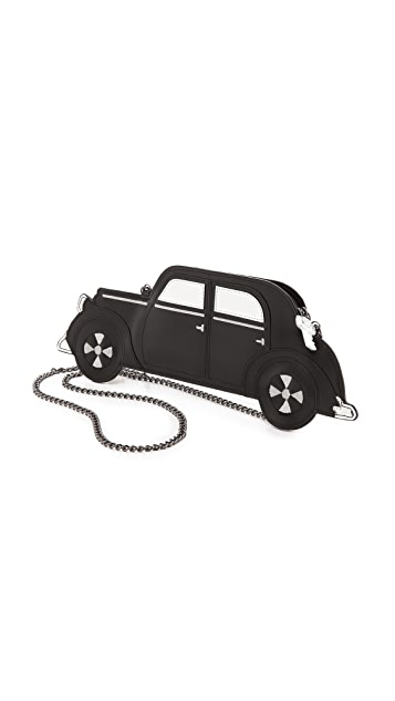 alice + olivia Vintage Box Leather Car Pouch