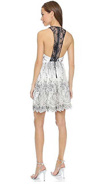 alice + olivia Steffy Low V Party Dress