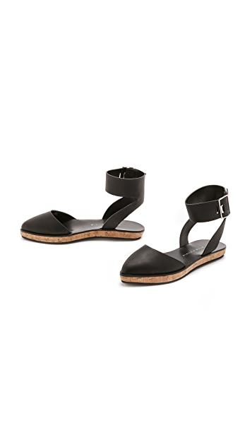 alice + olivia Resse Cork Flat Sandals