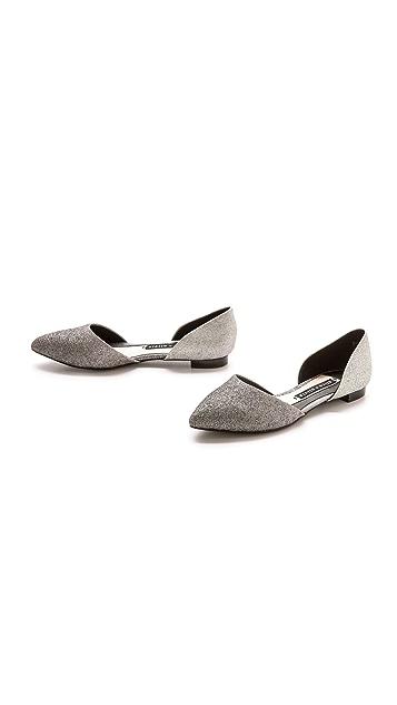 alice + olivia Hilary Glitter d'Orsay Flats