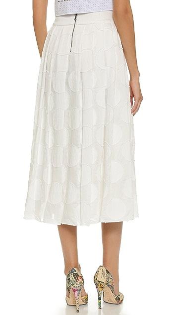 alice + olivia Calista Pleated Skirt