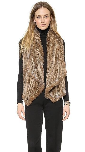 alice + olivia Harriet Fur Vest