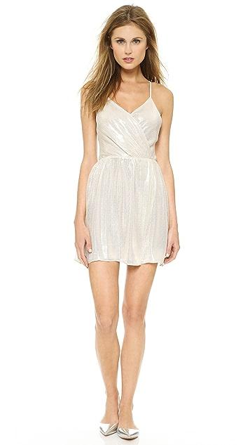 alice + olivia Livvy Draped Slit Dress