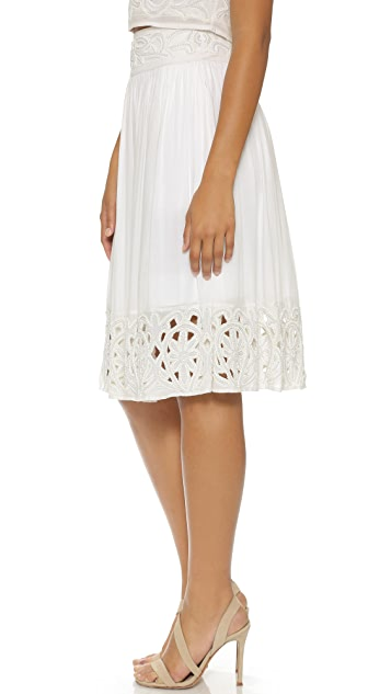 alice + olivia Joanna Embellished Skirt