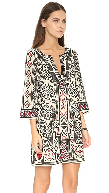 alice + olivia Lowell Embroidered Dress
