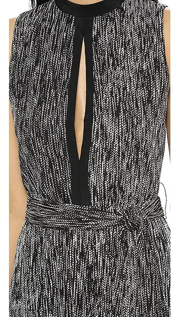 alice + olivia Ramon Keyhole Long Dress