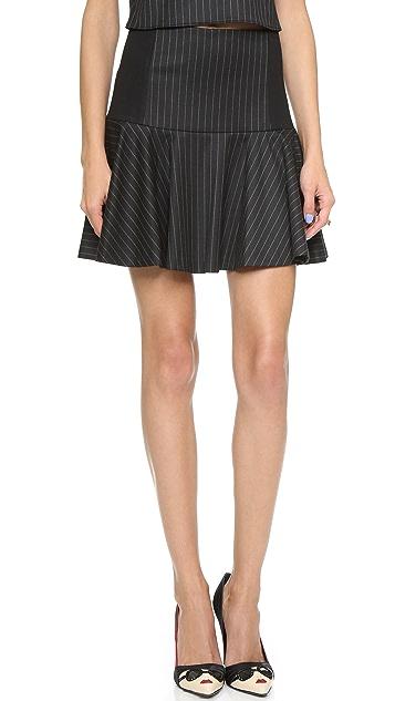alice + olivia Drop Waist Pinstripe Skirt