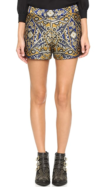 alice + olivia Back Zip Shorts
