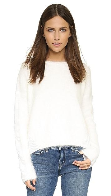alice + olivia Rhian Boxy Fuzzy Sweater