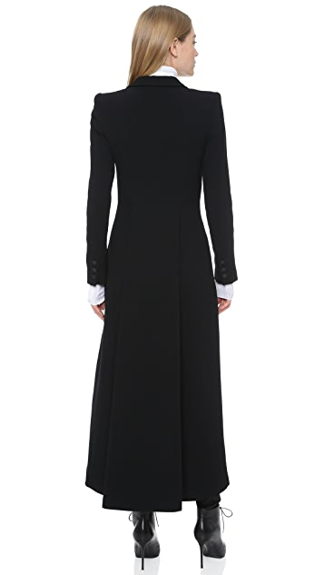 alice + olivia Talia Pleated Back Long Coat