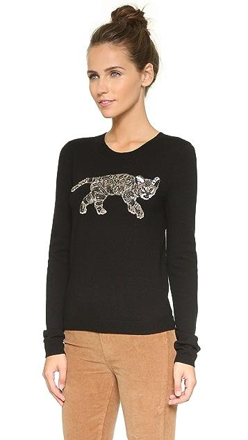 alice + olivia Beaded Bengal Cat Sweater
