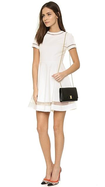 alice + olivia Frances Mini Flared Dress