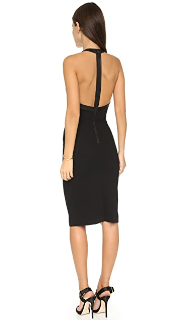 alice + olivia Jase High Neck Fitted Dress
