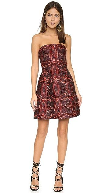 alice + olivia Nikki Structured Strapless Bell Dress
