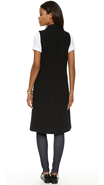 alice + olivia Simone Knee Length Vest