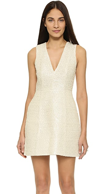 alice + olivia Pacey Low V Lantern Dress