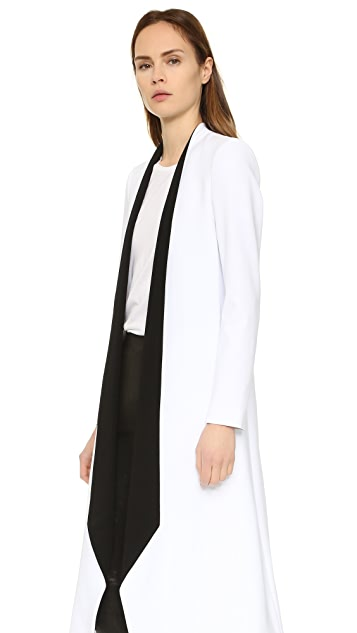 alice + olivia Rosamund Long Draped Lapel Coat