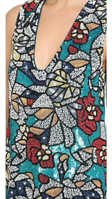 alice + olivia Платье Odell с вышивкой