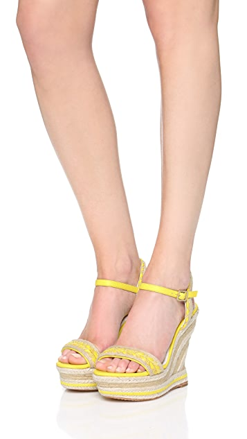 alice + olivia Janaya Wedge Sandals