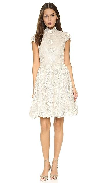 alice + olivia Natalina High Neck Dress