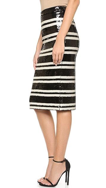 alice + olivia Rue Embellished Pencil Skirt