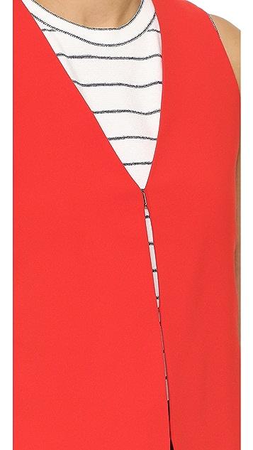 alice + olivia Angelica Long Vest